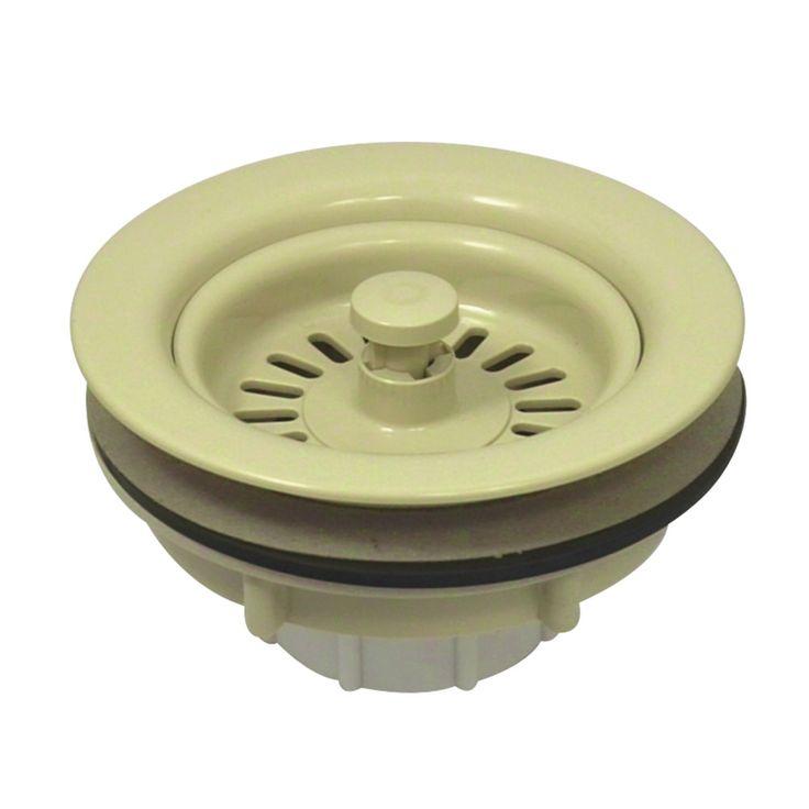 BSP1015 Kitchen Sink Waste Basket Almond 43