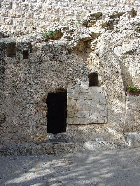 Jerusalem, Israel. The tomb where Jesus was taken once off the cross.