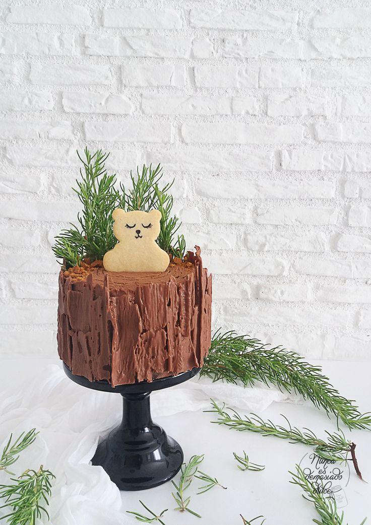 Tarta de Chocolate y dulce de leche en forma de Tronco de árbol
