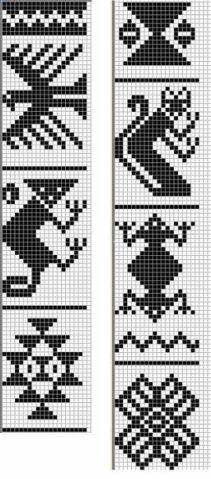 cross stitch southwest pattern native folklore geometric