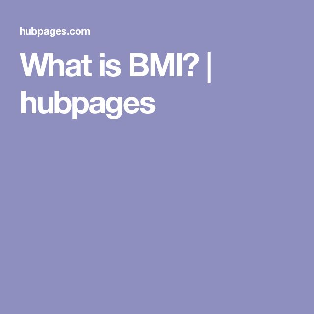 What is BMI? | hubpages