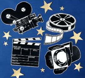 Movie Theme Bulletin Boards | Use these cutouts on a bulletin board for easy pizazz.