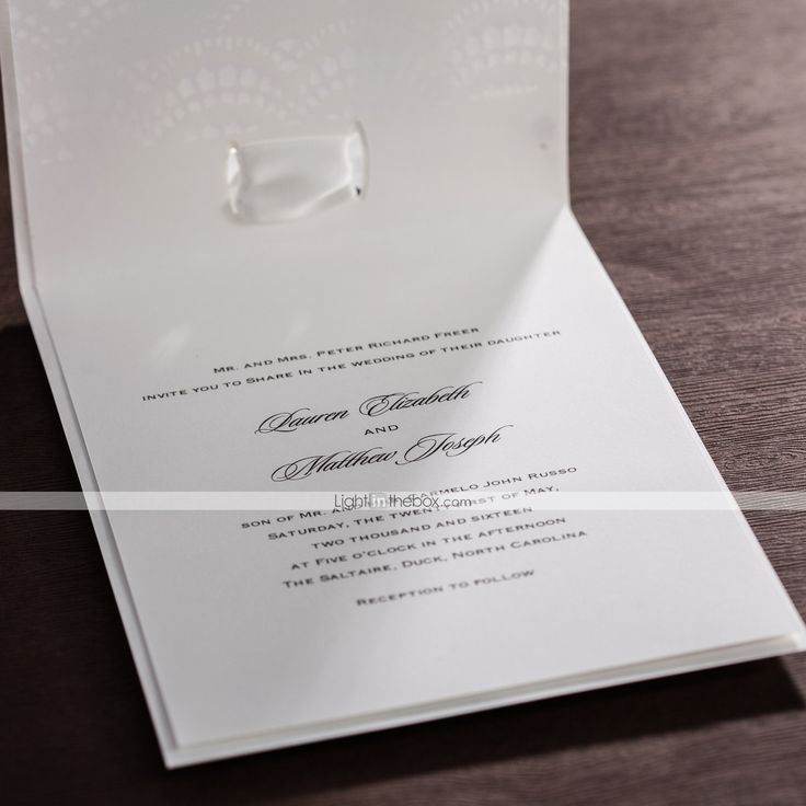 Personalized Top Fold Wedding Invitations Invitation Cards