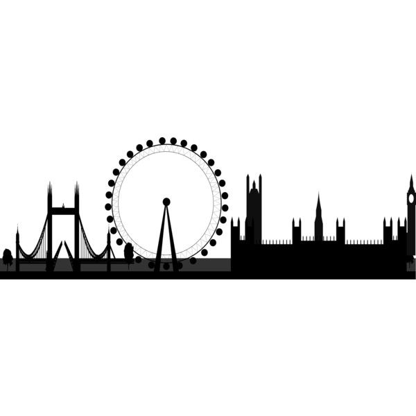 London skyline 2 -... ❤ liked on Polyvore featuring backgrounds, fillers, decorations, other, art, effects, doodle, borders, text and phrase