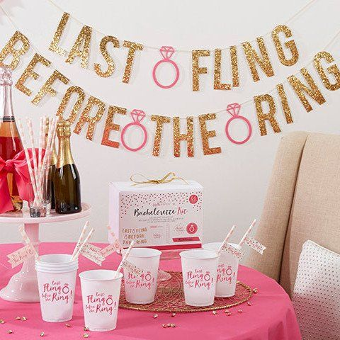 Last Fling Before the Ring 66 Piece Bachelorette Party Kit -   - Pink Poppy Party Shoppe - 1