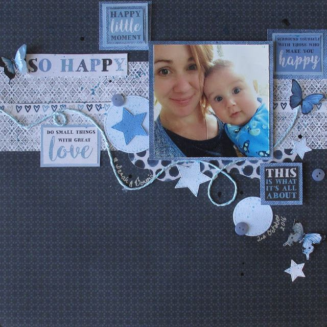 We all loved the new Kaisercraft indigo skies paper range has a fabulous range of blues. I find it difficult to fine navy scrapbooking pape...