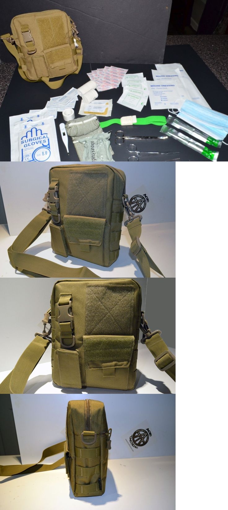 Tactical Molle Pouches 177900: 60+Pc First Aid Kit Bag Pouch Trauma Medical Utility Ifak Molle Bug Out (Tan #3) BUY IT NOW ONLY: $42.99