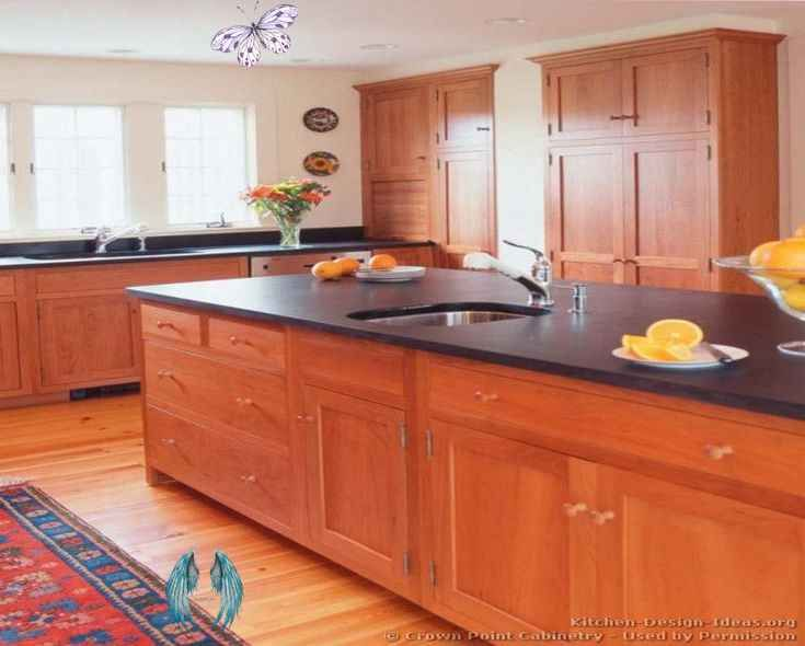 Cherry Cabinets With Light Wood Floors Design Ideas With Light Grey Kitchen Cabinets Best Kitchen Cabinets Cherry Cabinets Kitchen Kitchen Cabinets Light Wood