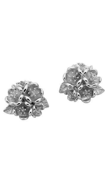 Karen Walker Flower Ball studs - sterling silver