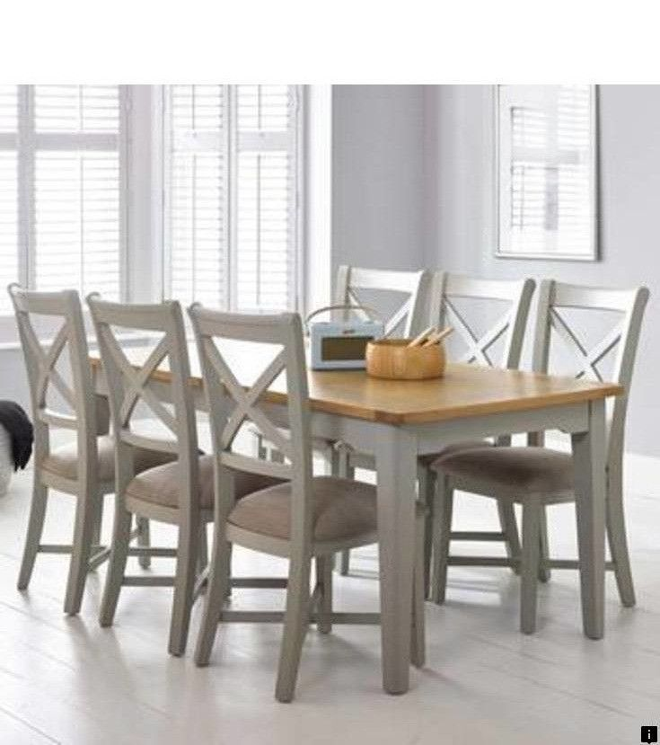 21+ Solid oak extending dining table and 8 chairs Best