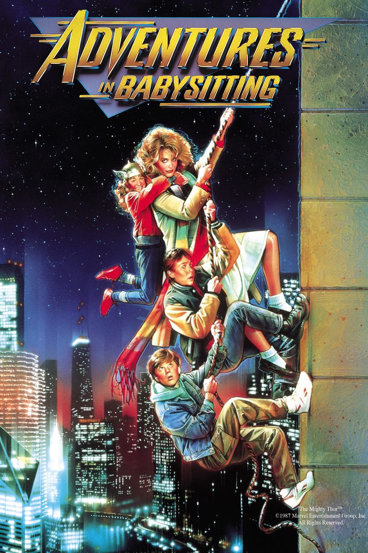 Adventures In Babysitting Movie Poster - Elisabeth Shue, Keith Coogan, Anthony Rapp  #AdventuresInBabysitting, #ElisabethShue, #KeithCoogan, #AnthonyRapp, #ChrisColumbus, #Comedy, #Art, #Film, #Movie, #Poster