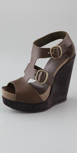 Pedro Garcia Cherise T Strap Wedge Sandals, $138.00 | www.findbuy.co/... #PedroGarcia