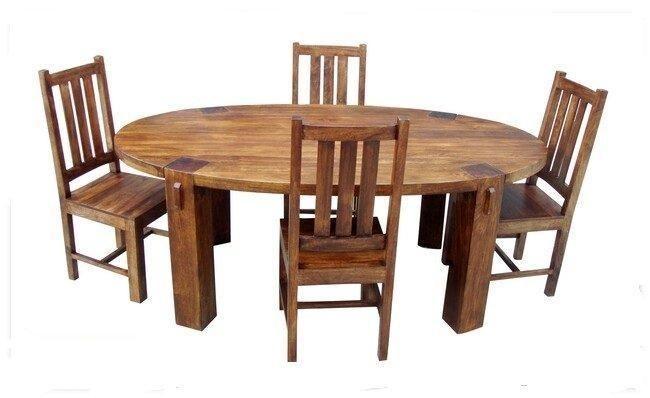 Dakota Large Oval Dining Table & 6 Chairs - Solid Mango Wood
