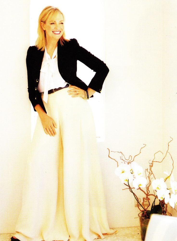 Womans Weekly March 2012 - MapVintage wide leg pants worn by Rebecca Gibney