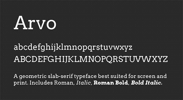 Love this Font {bonus: it's free!} - Arvo font
