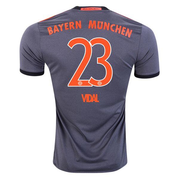 adidas Arturo Vidal Bayern Munich Away Jersey 16/17