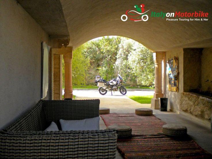 beautiful hotel, a motorbike: simply fantastic
