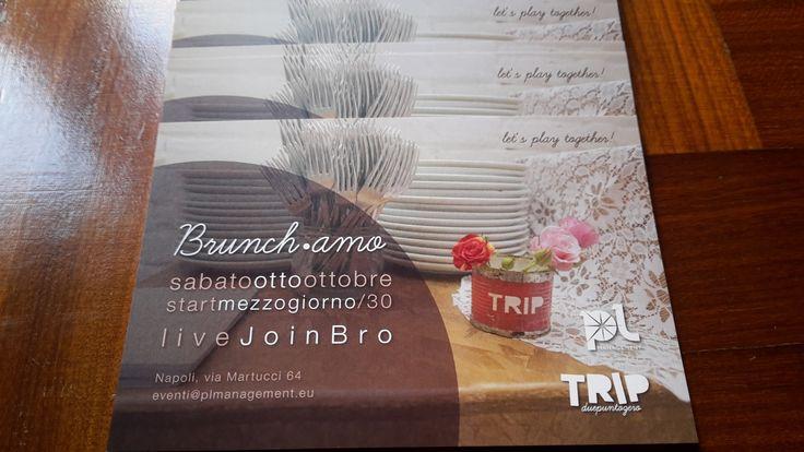 Appena ritirati gli inviti cartacei per il nostro brunch di sabato 8 ottobre a TRIP duepuntozero, da oggi in consegna per voi, siamo a vostra disposizione, buona giornata a tutti! #Sabato8Ottobre #SaveTheDate #TRIPduepuntozero #plmanagement #PensiamoinGrande