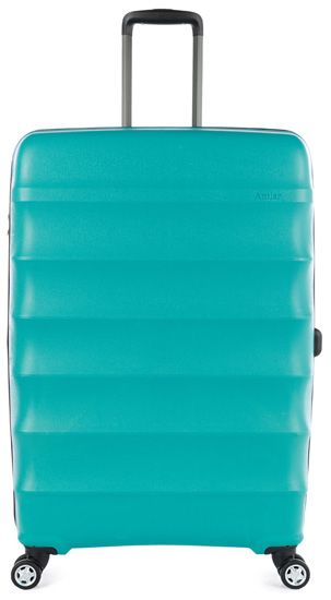 Juno DLX Polypropylene Large Expandable Spinner - Teal: The Juno DLX Large Spinner from Antler Luggage is a hardside roller case with…