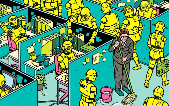 """""""Rise of the Robots and Shadow Work"""" by Barbara Ehrenreich, book reviews in the New York Times, May 11, 2015"""