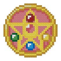 Sailor Moon Locket Cross Stitch