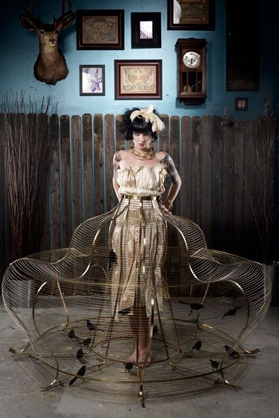 Birdcage Dress//I really don't know what to say. Do you wear pearls or diamonds? Snort, giggle, giggle!