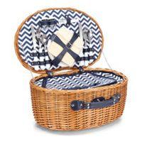 chevron picnic basket