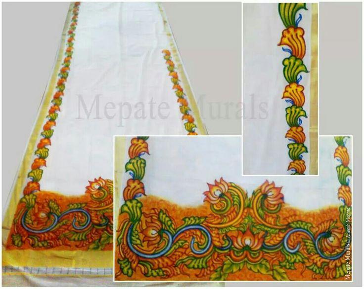 Fabric painting by artist Aneesh Mepate (Mepate Murals), Dubai, UAE, For more info contact : mepatemurals@gmail.com, #AneeshMepate, #KeralaMurals, #MepateMurals, #guruvayur, #Art, #KeralaMuralArt, #kerala_Murals, #fabric_painting, https://www.facebook.com/Mepate.Murals