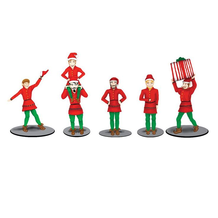 The Polar Express Elf Figure Pack by Lionel Trains, Multicolor