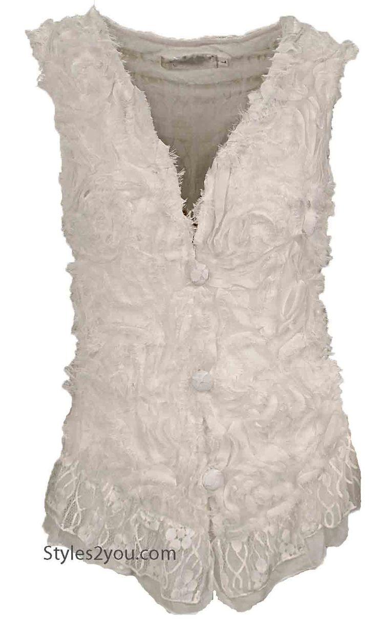 AP Dolly Vintage Vest In White