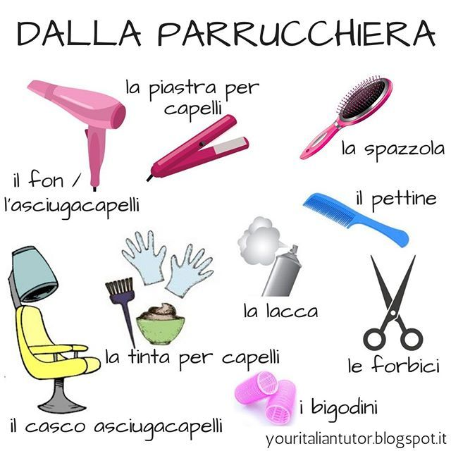 Italian Vocabulary Dalla Parrucchiera At The Hairdresser