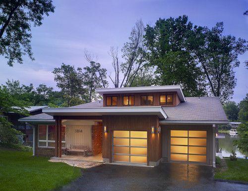 Best 25 modern lake house ideas on pinterest modern for Lake house plans with garage