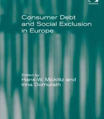 Consumer Debt And Social Exclusion In Europe PDF
