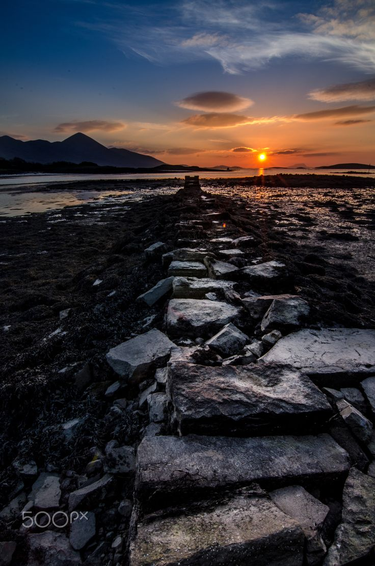 """Croagh Patrick and Clew bay - Taken from Westport Quay, Mayo, Ireland looking out to Clew bay and Croagh Patrick. Clew bay is a wonderful bay filled with approx 117 little islands, one of which John Lennon bought in 1967 but was sold by Yoko after Johns death. Please visit my <a href=""""https://www.facebook.com/kathrynconwayphotography"""">Facebook Page</a>, <a href=""""https://instagram.com/conwaykathryn/"""">Instagram</a> or <a href=""""https://twitter.com/kcgrasshopper/"""">Twitter</a>"""