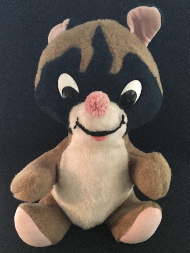 Vintage Knickerbocker Toys Raccoon Stuffed Animal Animals Of Distinction 12"
