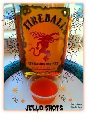 FIREBALL WHISKEY JELLO SHOTS 2 Cups Apple Cider 1 Small box Orange Jello 1 Cup Fireball Whiskey by Renee Medler