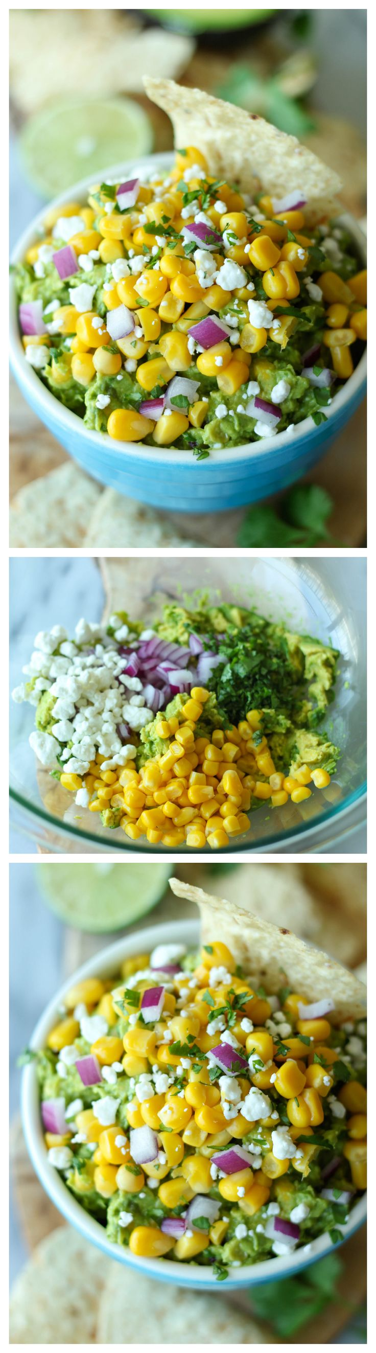 Sweet Corn Grilled Guacamole - Grilled avocados add that extra special touch to this creamy, sweet guacamole!