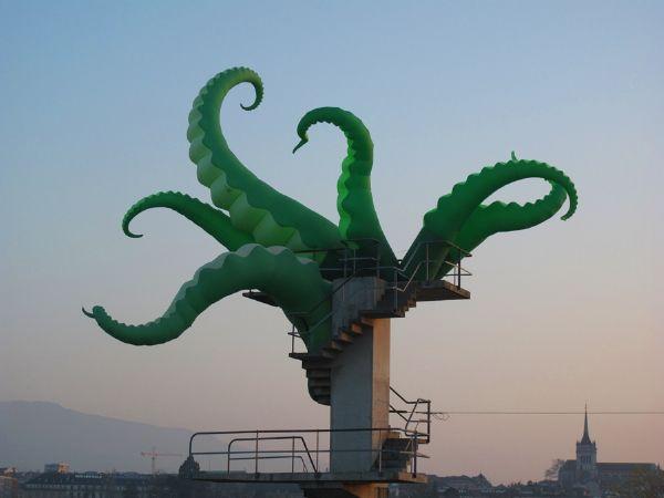 FILTHY LUKER: Street Artists, Urban Art, Art Installations, Octopuses, Art Attack, Filthier Hatches, Design Website, Artists Filthi, Streetart