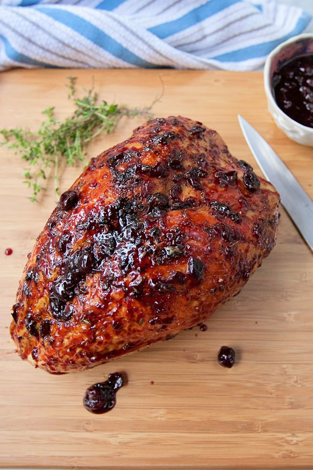 This Air Fried Turkey Breast with Cherry Glaze recipe gives you step by step directions for a delicous turkey breast that comes out juicy and tender.