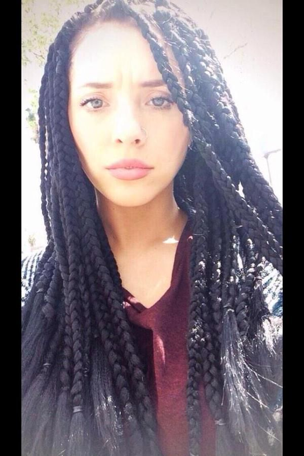 box braids white girls - Google Search