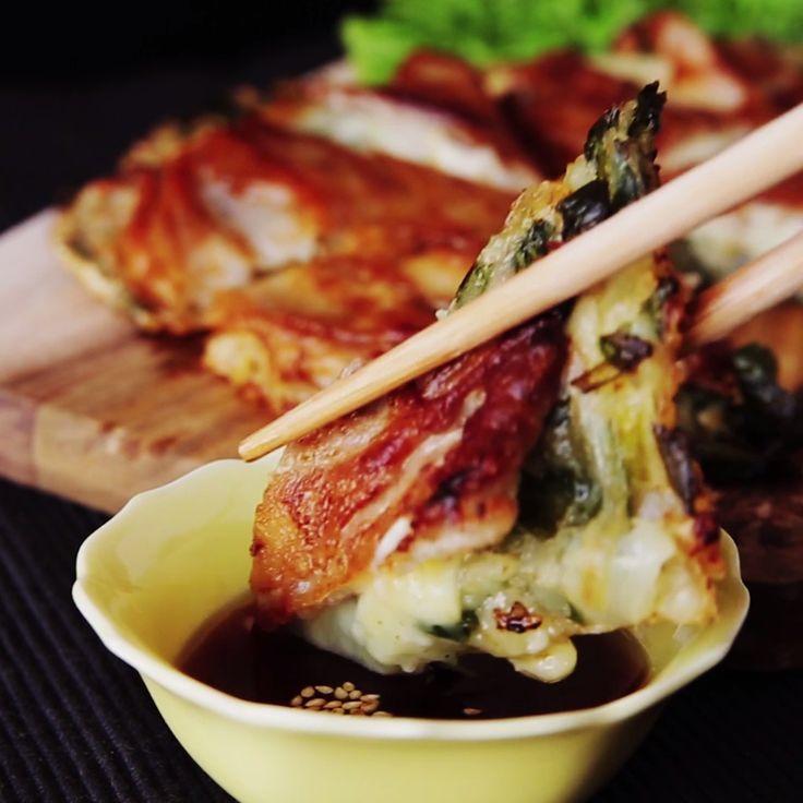 How to make Crispy Cheesy Korean Pancakes.