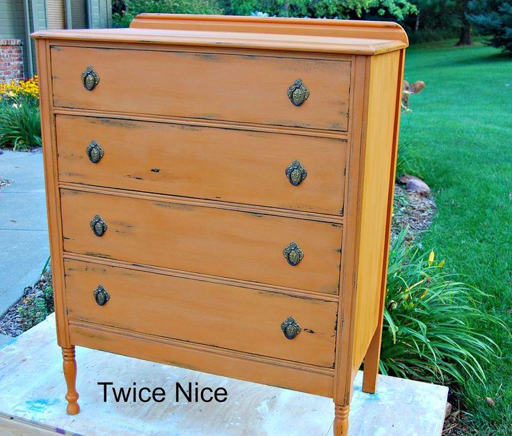 Twice Nice American Paint Company Custom Mix Of Orange Grove And Saddle Twice Nice Furniture