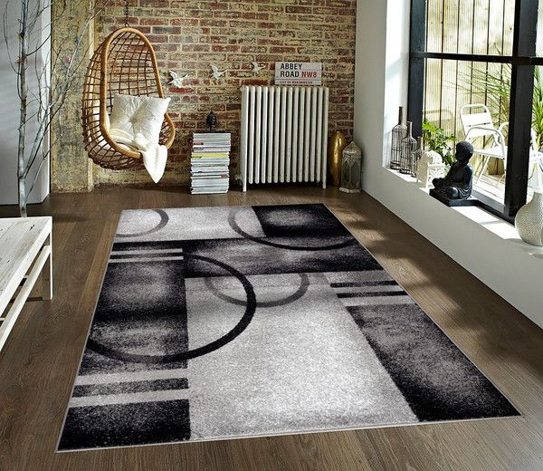2017 Gray Geometric Contemporary Area Rugs