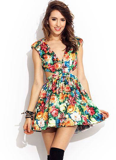 Rose Garden Cut-Out Dress