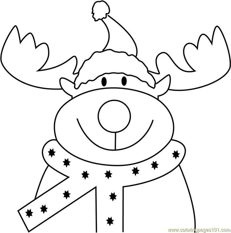 Reindeer Face Coloring Page Christmas Deer Pictures To Color Christmas Coloring Page F Reindeer Face Merry Christmas Coloring Pages Christmas Coloring Books