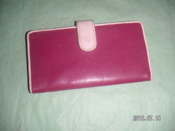 Pretty Checkbook Cover ~ Unique and pretty checkbook cover wallet in pink fuchsia