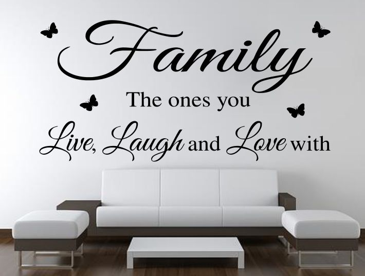 Wall Quote Stickers Of Family, Live, Laugh And Love. The Family Live Laugh  Wall Stickers Are Available To You In One Of 17 Colours Of Matt Wall Art  Vinyl ...