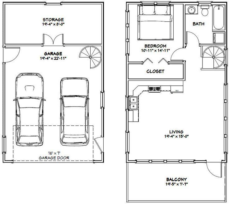 Pdf house plans garage plans shed plans plan de for Plan de garage avec loft