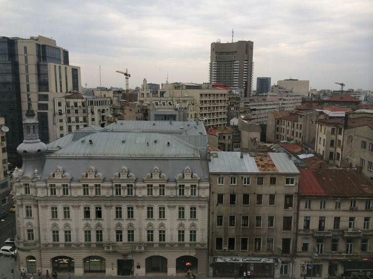 Calea Victoriei, Bucharest, as seen from Novotel. September 2014.