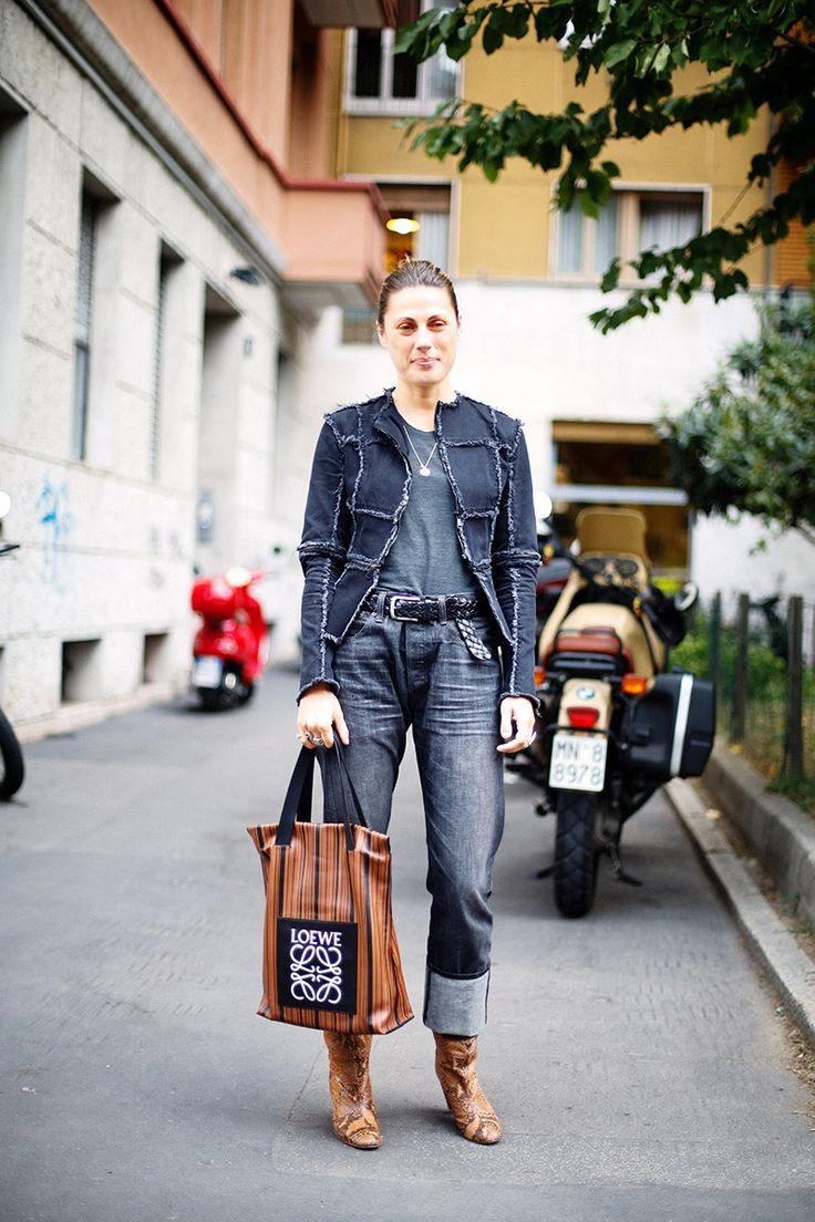 Denim, Loewe Bag.